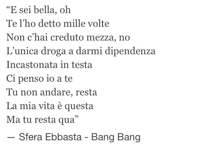 Bang Bang Sfera Ebbasta Uploaded By E L I On We Heart It