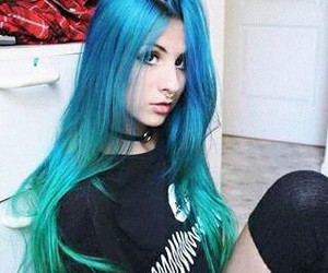 blue and color hair image