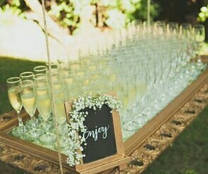 champagne, decoration, and ideas image