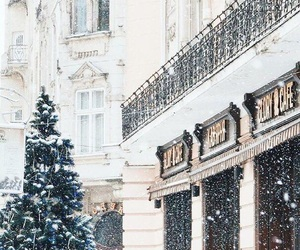 architecture, christmas tree, and city image