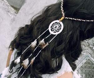 dreamcatcher, girl, and headband image