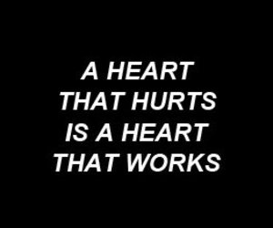 bw, heart, and quote image
