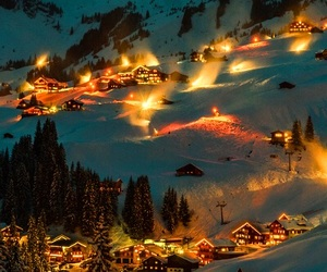 dreamy, lights, and village image