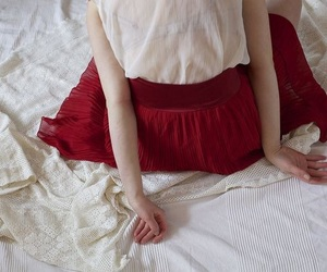 vintage, red, and skirt image