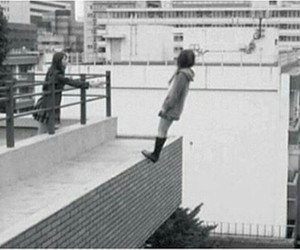 suicide, black and white, and sad image