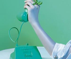 telephone, turquoise, and turquoise blue image