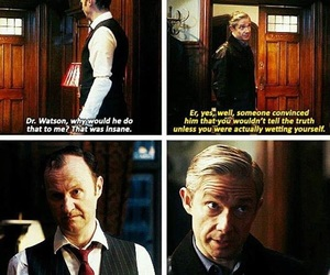 funny, sherlock, and mycroft holmes image