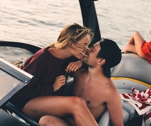boat, cool, and couple image