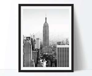 black and white, new yourk, and city image
