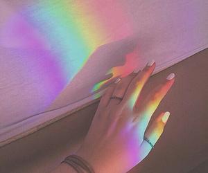 rainbow, tumblr, and grunge image