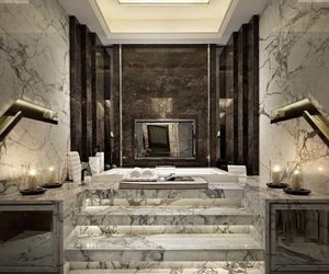 marble, bathroom, and design image