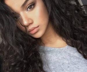girl, make-up, and pretty girl image