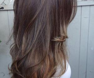 brown hair, girl, and long hair image