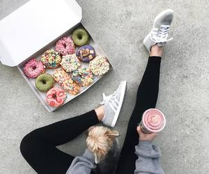 dog, donuts, and food image
