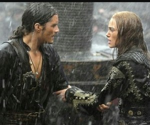 will turner, orlando bloom, and pirates of the caribbean image