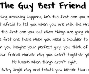 best friends, guy, and quote image