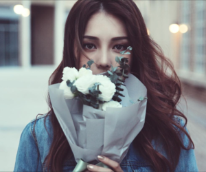 pony, flowers, and girl image