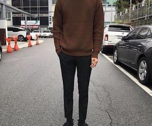 black pants, men's fashion, and clothes image