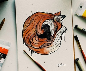 art, fox, and animal image