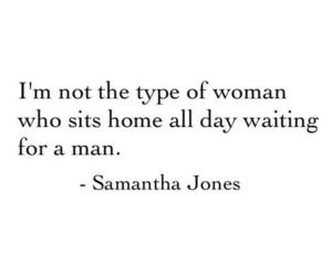 quote, samantha jones, and woman image