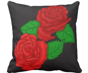 home decor, red roses, and room decor image