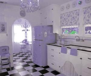 kitchen, pink, and vintage image