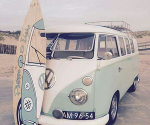 photography, volkswagen, and surf image