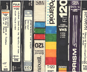 vhs, illustration, and movies image