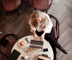 coffee, work, and cafe image