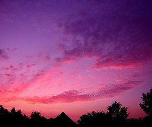 sky, heart, and pink image