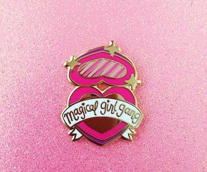 pink, pins, and magical image