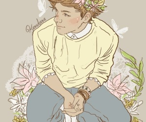 louis tomlinson, one direction, and fanart image