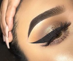 eyebrows, goals, and eyeliner image