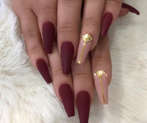 diamonds, gold, and nails image