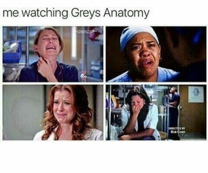 grey's anatomy, cry, and series image
