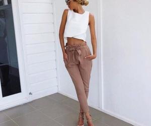 bun, heels, and clothes image