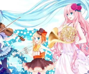 miku, luka, and rin image