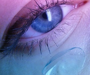 blue, eye, and pink image
