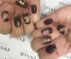 gold, manicure, and wine image