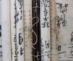 japan, scrolls, and zen image