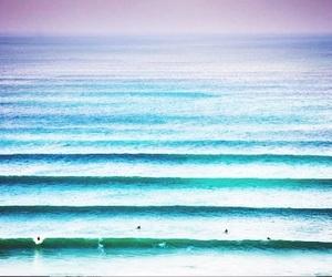 blue, paradise, and sunset image