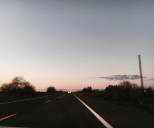 night, pink, and road image