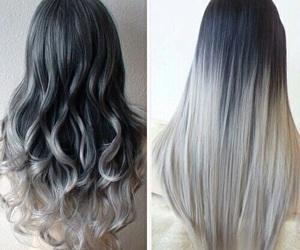 beautiful, gray, and hair image