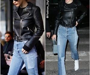 celebrities, fashion, and leather jacket image