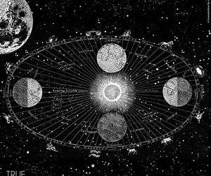 art, black, and cosmic image