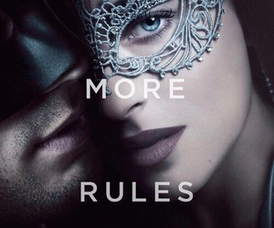 dakota johnson, christian grey, and fifty shades darker image