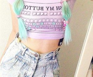 pastel, hair, and pastel goth image