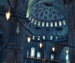 architecture, mosque, and blue image