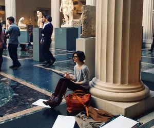 museum, art, and girl image