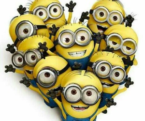 minions, heart, and yellow image